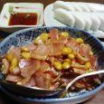 大豆とベーコンの甘辛煮